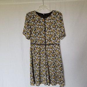 Banana republic floral print dress size 8